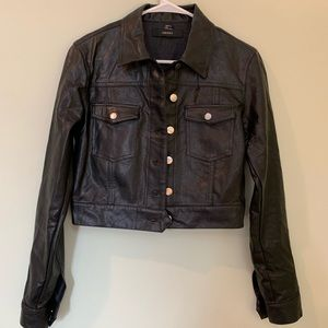 Lather black jacket! NEW!
